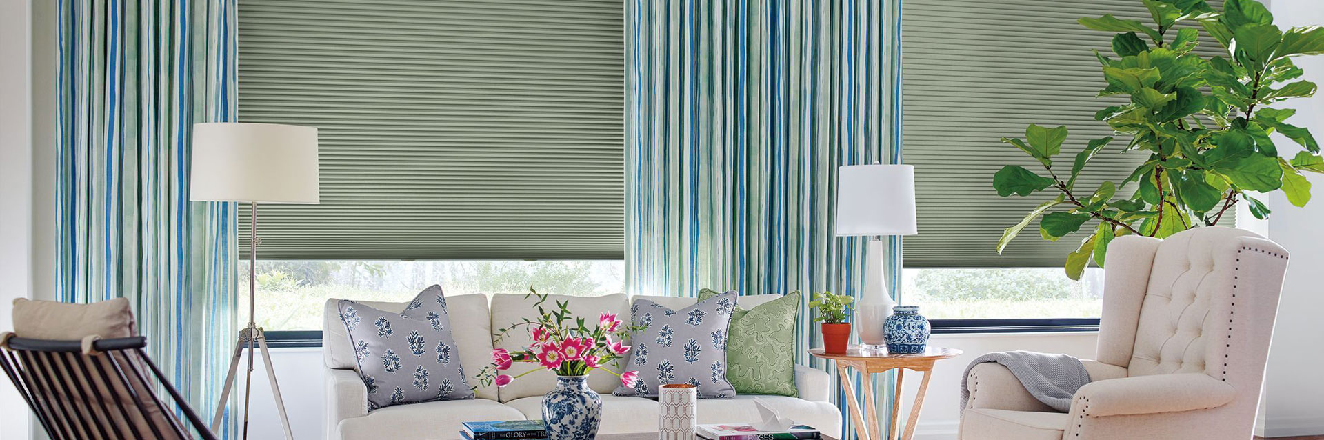 Draperies and Stationary Drapery Side Panels
