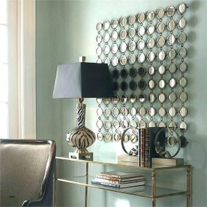stylish mirrored wall art